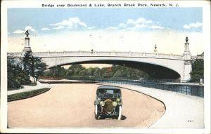 Newark New Jersey Branch Brook Park Bridge over Boulevard & Lake  Kat. Newark