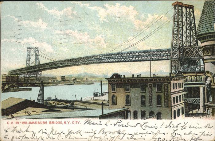 New York City Williamsburg-Bridge / New York /