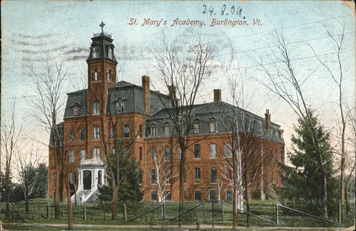 Burlington Vermont St. Mary`s Academy  Kat. Burlington