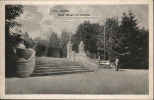 Bad Polzin Polczyn-Zdroj Neue Treppe Kurpark / Polczyn /Swidwin