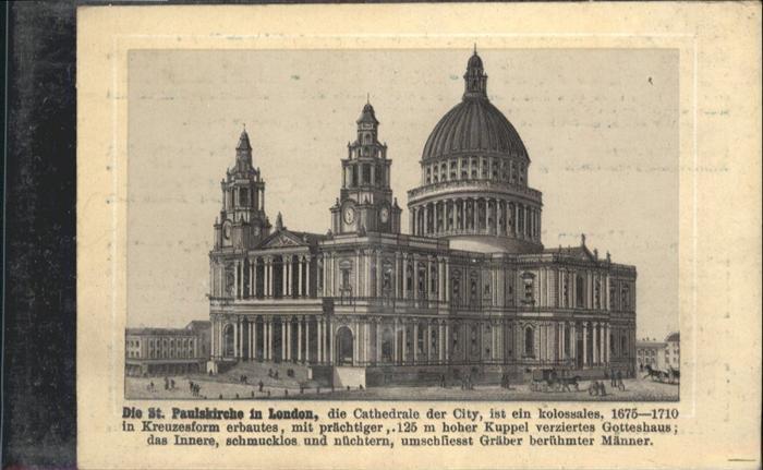 London St Pauls Kirche  / City of London /Inner London - West