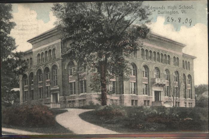 Burlington Vermont Edmunds High School  / Burlington /