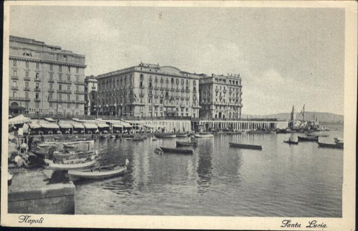 Napoli Neapel Santa Lucia Schiff / Napoli /