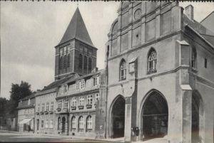 Preussisch Holland Pfarrkirche St. Bartholomaeus Rathaus Turm / Polen /