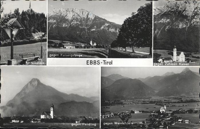 Ebbs Zahmer Kaiser Wendelstein Pendling St Nikolaus  / Ebbs /Tiroler Unterland