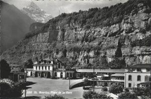 St Maurice Valais Place de la Gare / St Maurice /Bz. Saint-Maurice