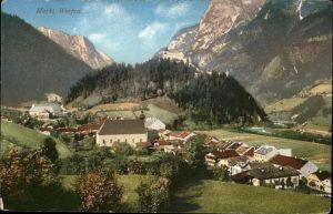 Markt Werfen Salzburger Land Gesamtansicht / Oesterreich /