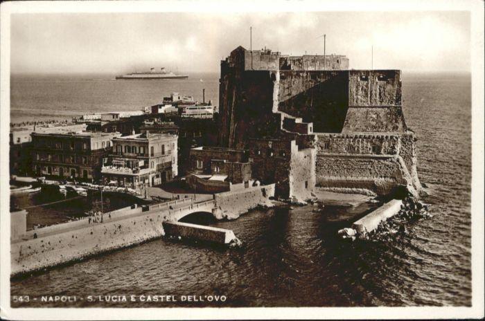 Napoli Neapel Napoli Samn Lucia Castel Dell Ovo * / Napoli /