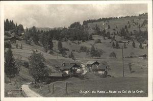 Gryon Route du Col de la Croix Kat. Gryon