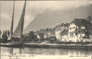 hw01251 Bouveret VS lac Leman Kategorie. Bouveret Alte Ansichtskarten