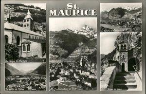 St Maurice Valais Notre Dame du Scex Dents du Midi Basilique Martyrs Kat. St Maurice
