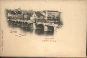 Basel Gross-Basel Hotel 3 Koenig Kat. Basel