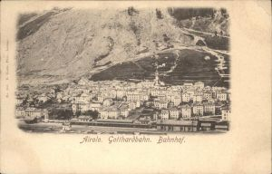 Airolo Gotthardbahn Bahhof  Kat. Airolo