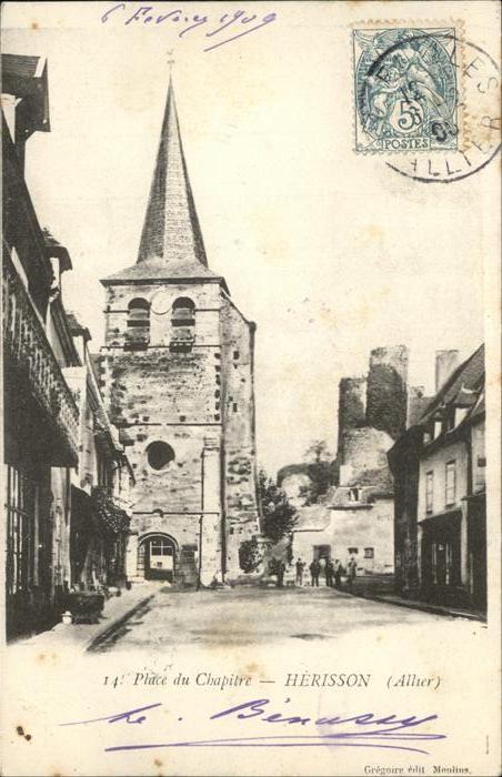 Herisson Allier Place Chapitre Kat. Herisson