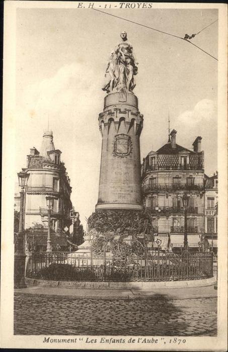 Aube Orne Monument Entfants de l Aube Kat. Aube