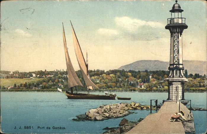 Geneve GE Port Segelschiff Kat. Geneve
