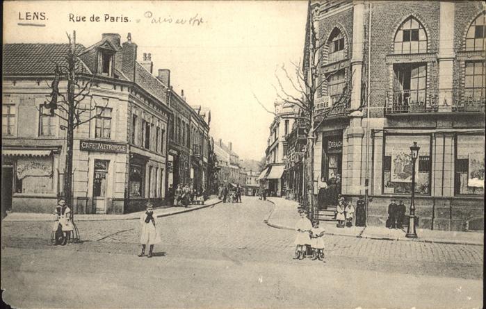 Lens Pas-de-Calais Rue de Paris Kat. Lens