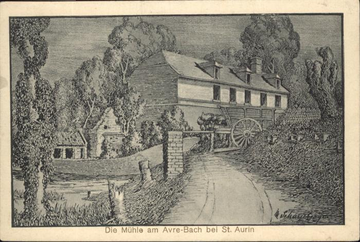 Saint Aurin Avre-bach Muehle 0