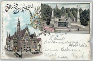 Breslau Niederschlesien Breslau Rathaus Denkmal Kaiser Wilhelm x / Wroclaw /