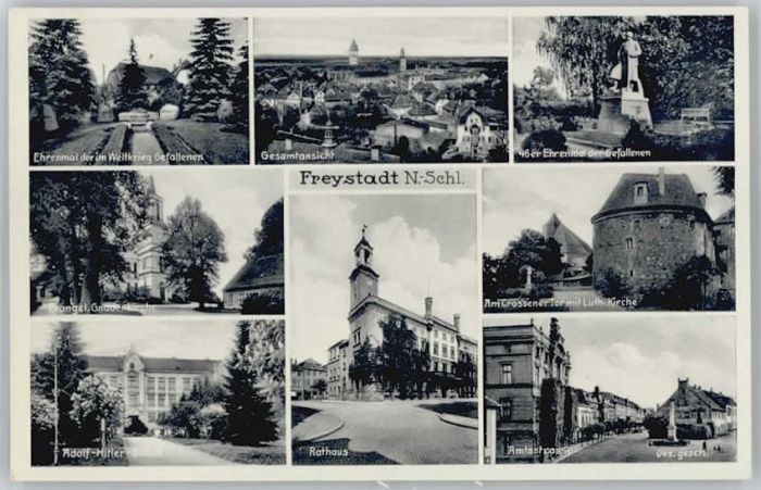Freystadt Schlesien Freystadt Ehrenmal Rathaus Gefallenenehrenmal * / Kozuchow /