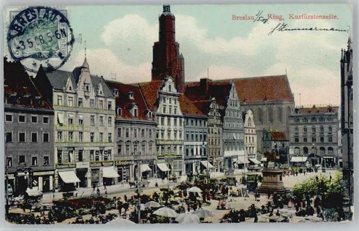 Breslau Niederschlesien Breslau Ring x / Wroclaw /