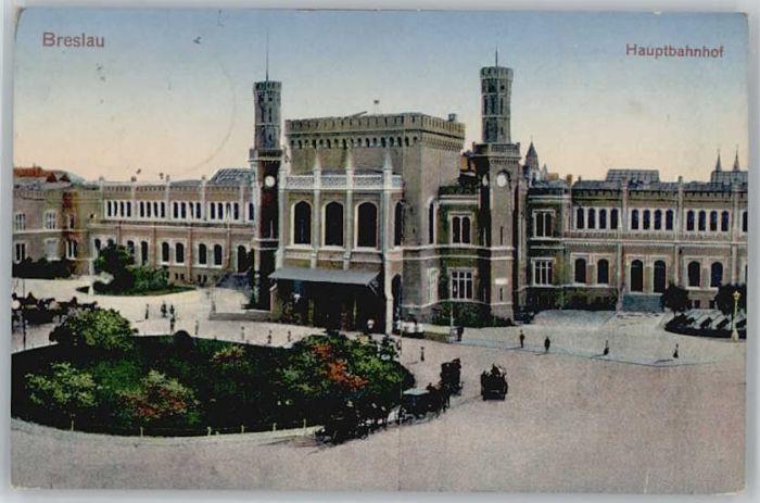 Breslau Niederschlesien Breslau Hauptbahnhof x / Wroclaw /