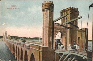 Cairo Egypt Barrage Nil Esel Bruecke / Cairo /