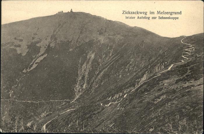 Melzergrund Zickzackweg Schneekoppe / Polen /