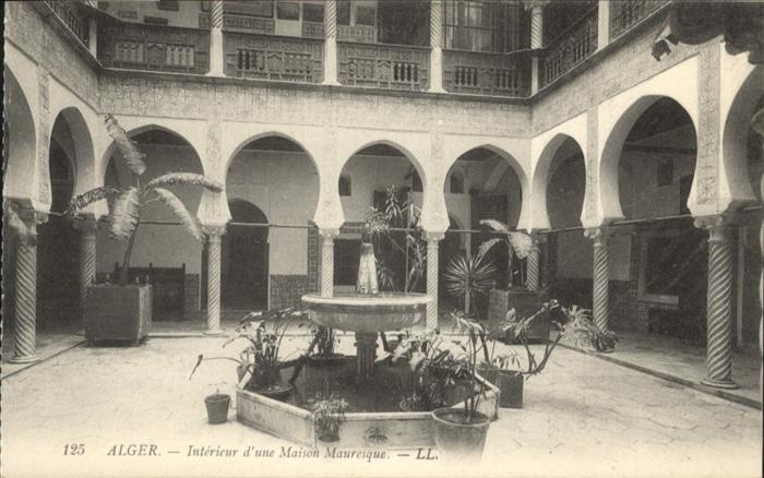 Alger Algerien Interieur d une Maison Mauresque / Algier Algerien ...
