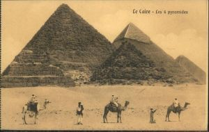 Kairo Les 4 Pyramides Kamele / Aegypten /