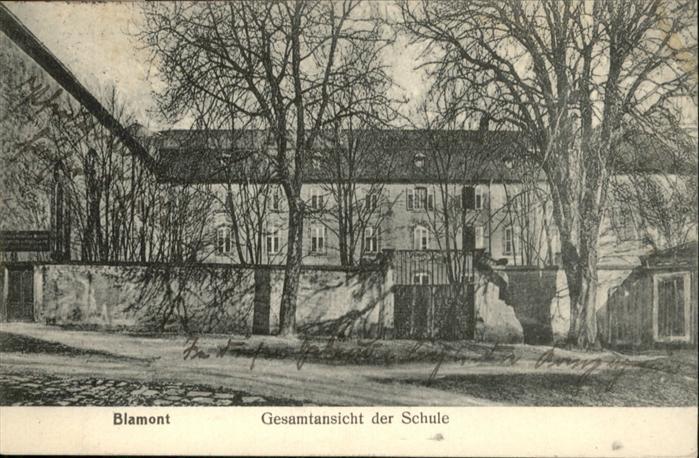 Blamont Meurthe-et-Moselle Schule / Blamont /Arrond. de Luneville
