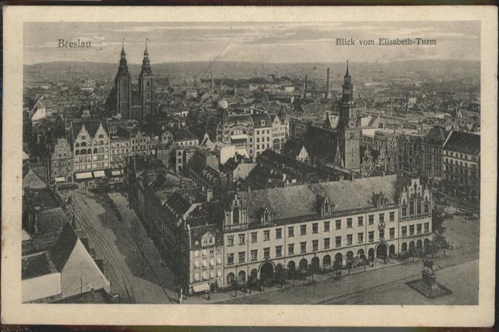 Breslau Niederschlesien Elisabeth-Turm / Wroclaw /