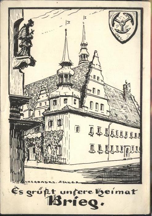 Brieg Brzeg Schlesien Rathaus / Oppeln /Powiat Brzeski