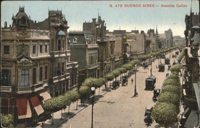 Buenos Aires Avenida Callao Strassenbahn  / Buenos Aires /