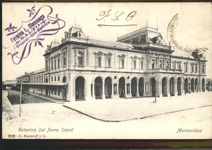 Montevideo Uruguay Estacion del Ferro Carril / Montevideo /