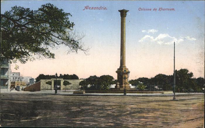 Alexandrie Alexandria Colonne de Xhartoum / Aegypten /