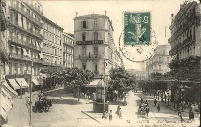 Alger Algerien Rue Dumont Kutsche Rue Henri Martin  / Algier Algerien /