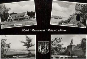 Arcen Hotel Restaurant  Roland Ruine Schanstoren Poortgebouw Kasteel Maasgezicht Exterieur / Venlo /