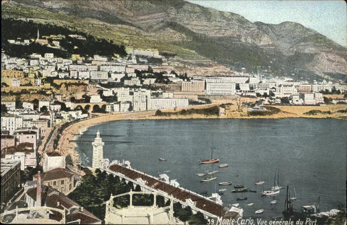 Monte-Carlo Port Vue generale / Monte-Carlo /