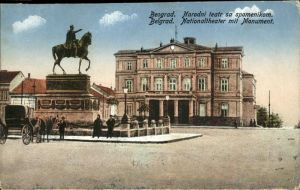 Belgrad Serbien Nationaltheater Monument / Serbien /