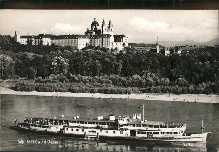 Melk Donau Stift Dampfer  / Melk Wachau /Mostviertel-Eisenwurzen