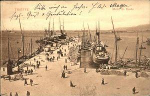 Trieste Schiff Molo S Carlo / Trieste /