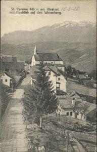 Kirchberg Wechsel St. Coronu  Wechsel Schneeberg / Kirchberg am Wechsel /Niederoesterreich-Sued