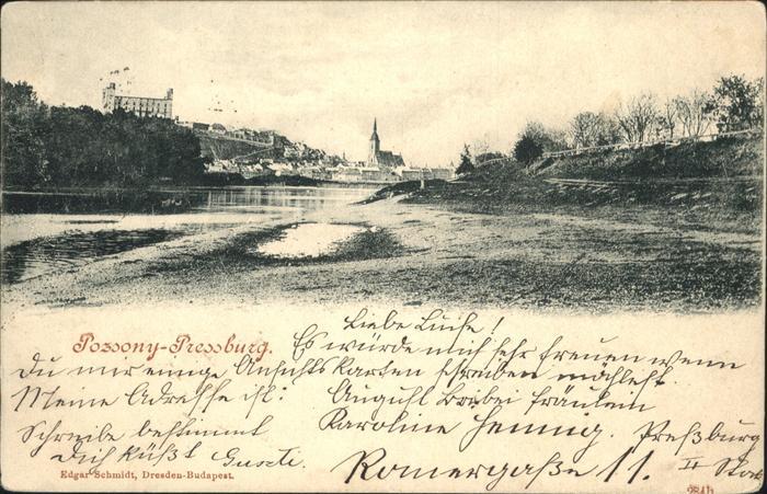 Pozsony Bratislava Pressburg / Slowakische Republik /