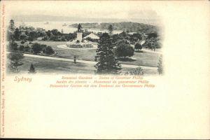 Sydney New South Wales Botan. Garten Denkmal Gouverneur Phillip / Sydney /