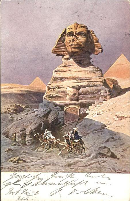 Sphinx Kamel Kuenstler F Perlberg / Sphinx /Rg. Finsteraarhorn