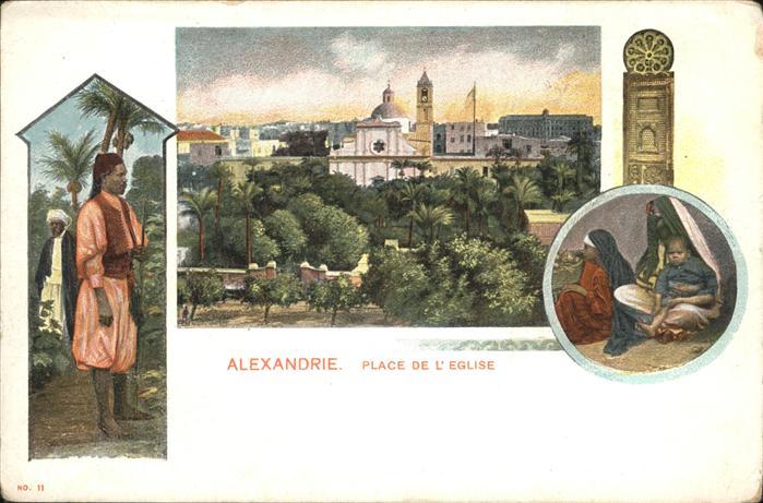 Alexandrie Alexandria Place de l'Eglise / Aegypten /