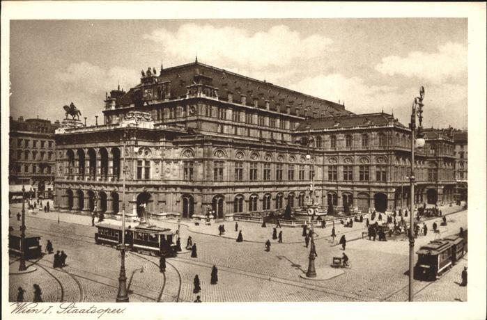 Wien Staatsoper Strassenbahn  / Wien /Wien