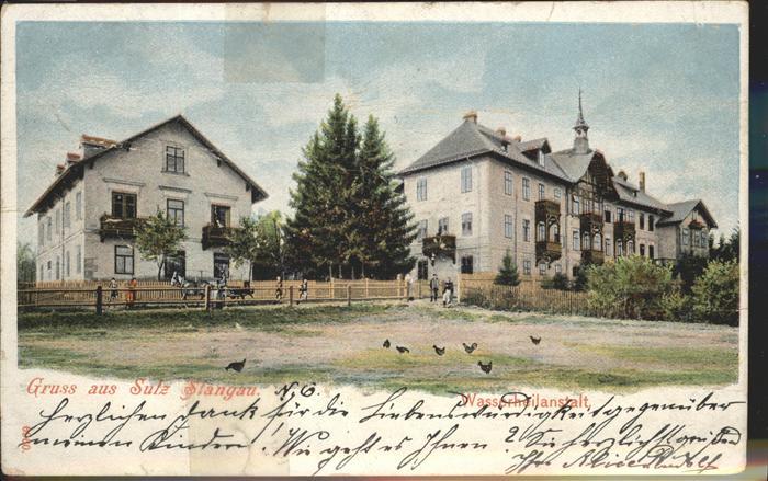 Sulz Stangau Wasserheilanstalt Pferd Huehner / Oesterreich /