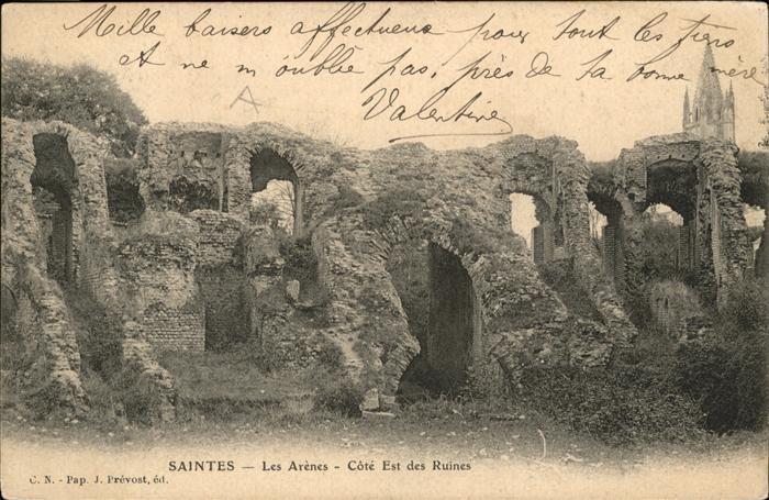 Saintes Charente-Maritime Les Arenes Cote Est des Ruines / Saintes /Arrond. de Saintes
